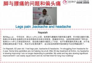 eChiro Spine Stretching Solutions for dizziness, headache, headache, back pain, leg pain